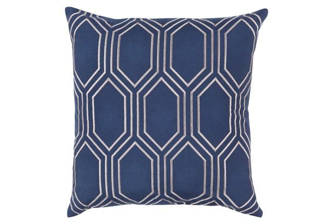 Accent Pillow-Natalie Geo Cobalt/Light Grey20X20 - 360