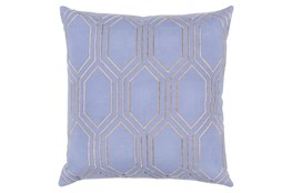 Accent Pillow-Natalie Geo Sky Blue/Light Grey 20X20