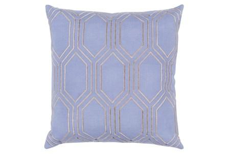 Accent Pillow-Natalie Geo Sky Blue/Light Grey 20X20