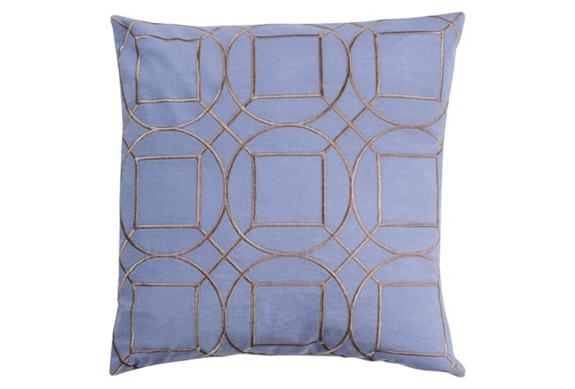 Accent Pillow-Nessa Geo Sky Blue/Light Grey 18X18 - 360