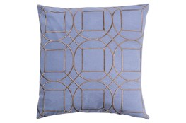 Accent Pillow-Nessa Geo Sky Blue/Light Grey 20X20