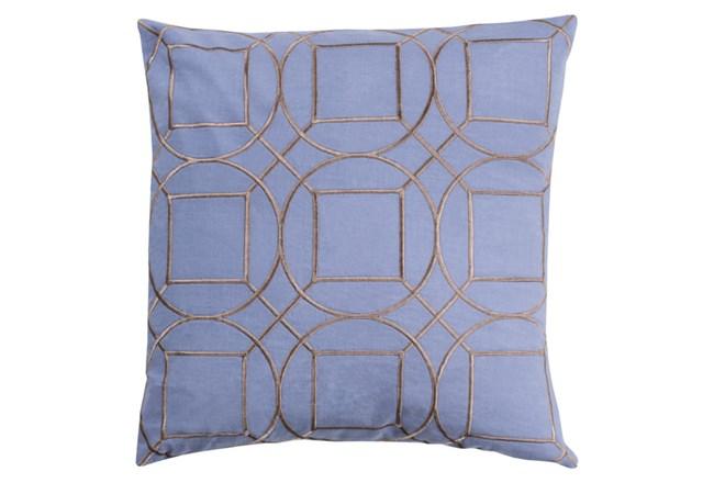 Accent Pillow-Nessa Geo Sky Blue/Light Grey 20X20 - 360