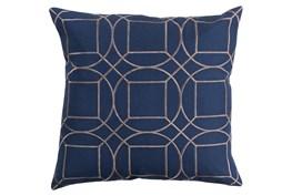 Accent Pillow-Nessa Geo Cobalt/Light Grey 20X20