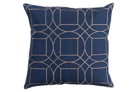 Accent Pillow-Nessa Geo Cobalt/Light Grey 20X20