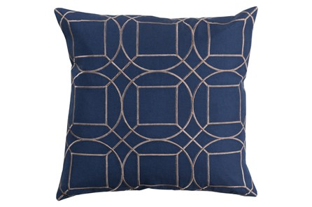 Accent Pillow-Nessa Geo Cobalt/Light Grey 20X20 - Main