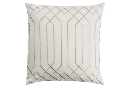Accent Pillow-Noel Geo Ivory/Light Grey 18X18