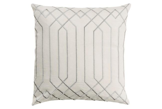 Accent Pillow-Noel Geo Ivory/Light Grey 18X18 - 360