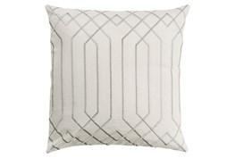 Accent Pillow-Noel Geo Ivory/Light Grey 20X20