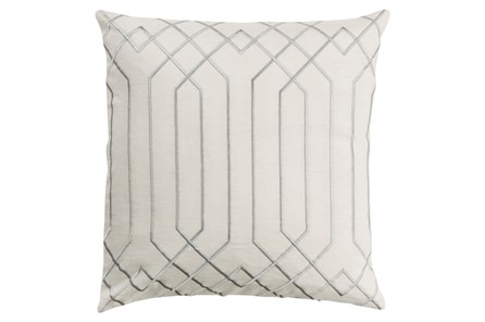Accent Pillow-Noel Geo Ivory/Light Grey 20X20 - Main
