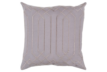 Accent Pillow-Noel Geo Charcoal/Light Grey 20X20