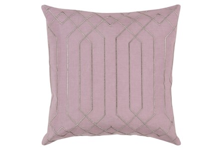 Accent Pillow-Noel Geo Mauve/Light Grey 20X20
