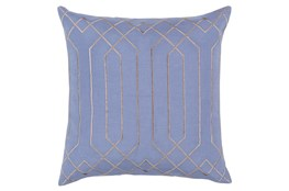Accent Pillow-Noel Geo Sky Blue/Light Grey 18X18