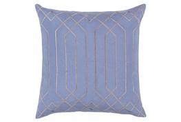Accent Pillow-Noel Geo Sky Blue/Light Grey 18X18
