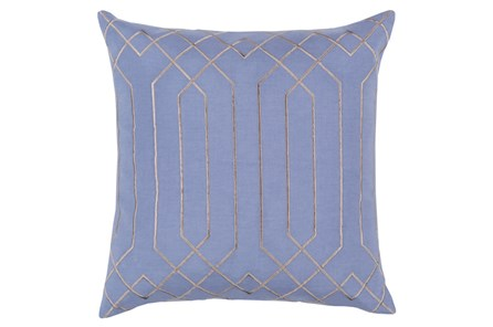 Accent Pillow-Noel Geo Sky Blue/Light Grey 18X18 - Main