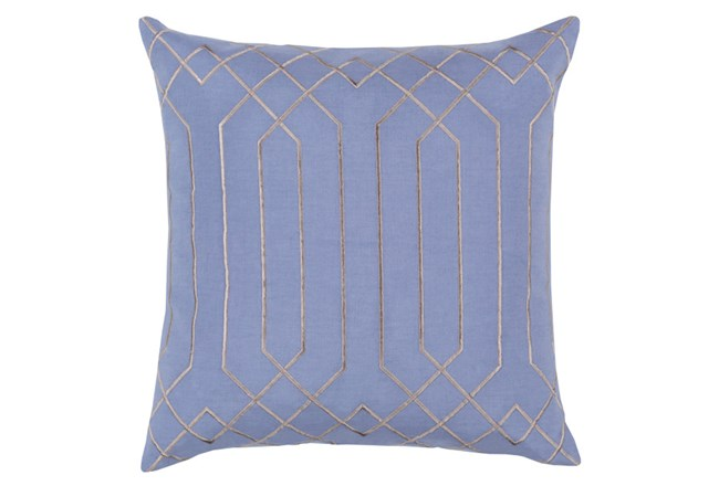 Accent Pillow-Noel Geo Sky Blue/Light Grey 18X18 - 360