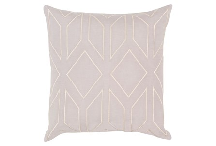 Accent Pillow-Nora Geo Light Grey/Beige 18X18