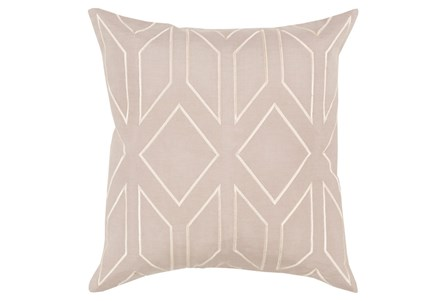 Accent Pillow-Nora Geo Grey/Beige 22X22