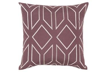 Accent Pillow-Nora Geo Eggplant/Ivory 18X18
