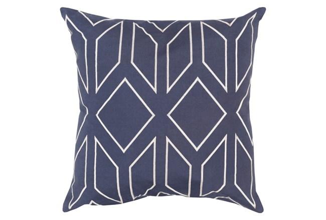 Accent Pillow-Nora Geo Eggplant/Ivory 18X18 - 360