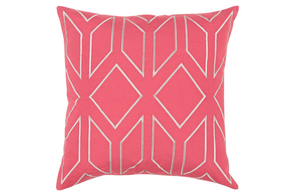 Accent Pillow-Nora Geo Carnation/Light Grey 18X18