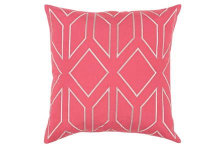 Accent Pillow-Nora Geo Carnation/Light Grey 18X18