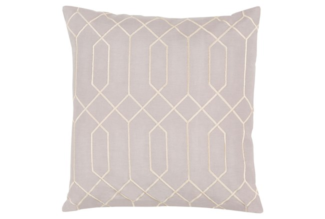 Accent Pillow-Nicee Geo Light Grey/Beige 18X18 - 360