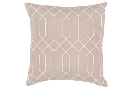 Accent Pillow-Nicee Geo Grey/Beige 18X18
