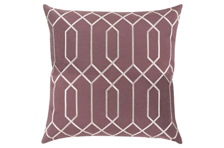 Accent Pillow-Nicee Geo Eggplant/Ivory 18X18