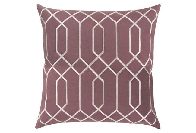 Accent Pillow-Nicee Geo Eggplant/Ivory 18X18 - 360