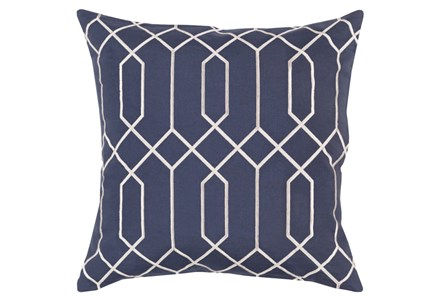 Accent Pillow-Nicee Geo Slate/Light Grey 18X18