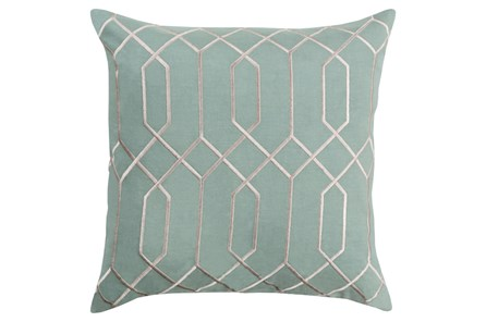 Accent Pillow-Nicee Geo Moss/Light Grey 18X18