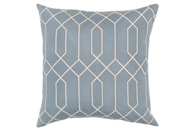 Accent Pillow-Nicee Geo Moss/Beige 18X18 - 360