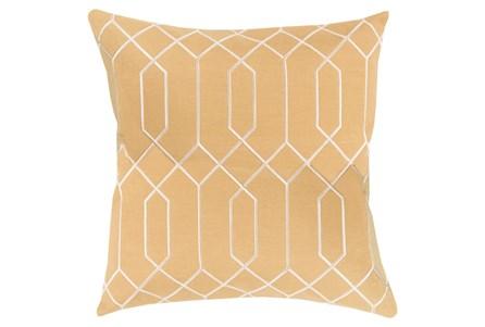 Accent Pillow-Nicee Geo Gold/Beige18X18