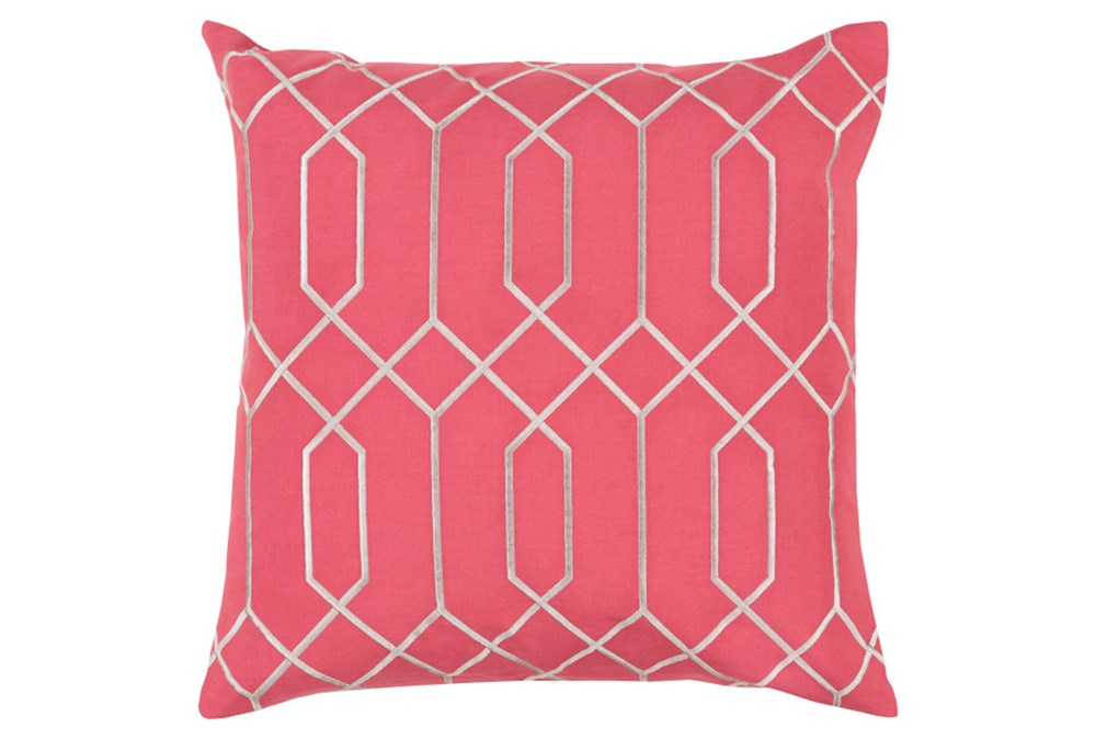 Accent Pillow-Nicee Geo Carnation/Light Grey 18X18