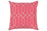 Accent Pillow-Nicee Geo Carnation/Light Grey 18X18 - Signature