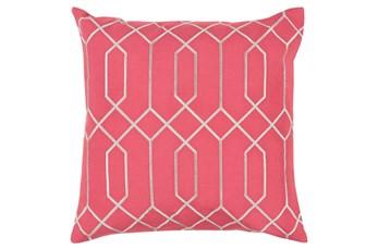 Accent Pillow-Nicee Geo Carnation/Light Grey 20X20
