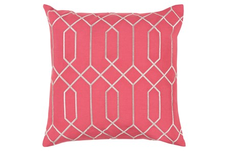 Accent Pillow-Nicee Geo Carnation/Light Grey 20X20