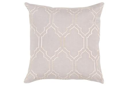 Accent Pillow-Norinne Geo Light Grey/Beige 18X18