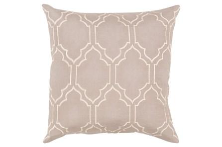 Accent Pillow-Norinne Geo Grey/Beige 18X18