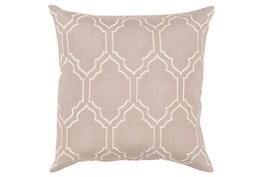 Accent Pillow-Norinne Geo Grey/Beige 20X20