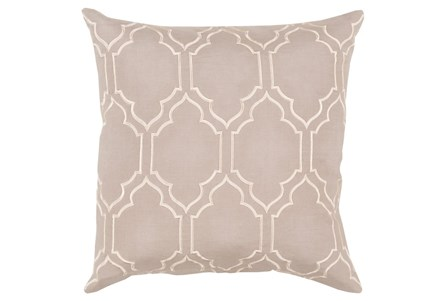 Accent Pillow-Norinne Geo Grey/Beige 20X20