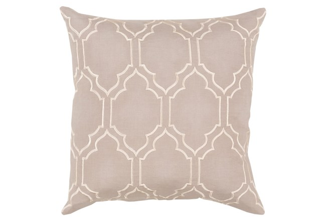 Accent Pillow-Norinne Geo Grey/Beige 20X20 - 360