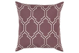 Accent Pillow-Norinne Geo Mauve/Light Grey 18X18