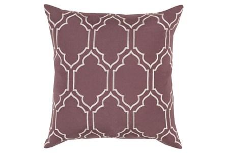 Accent Pillow-Norinne Geo Mauve/Light Grey 18X18