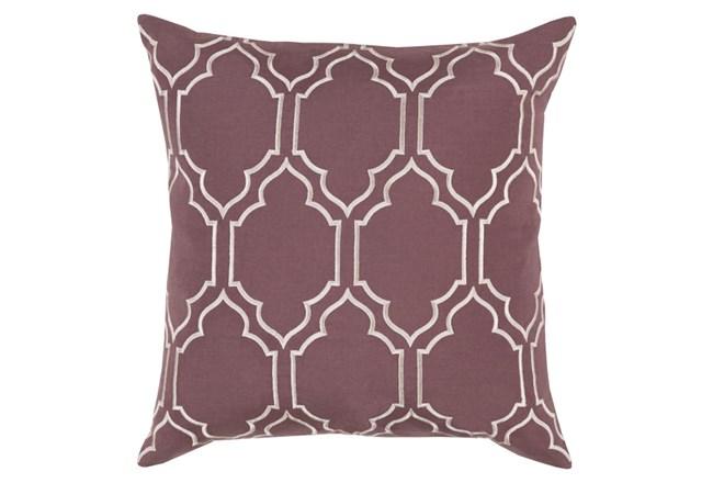 Accent Pillow-Norinne Geo Mauve/Light Grey 20X20 - 360