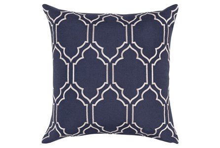 Accent Pillow-Norinne Geo Navy/Light Grey 18X18