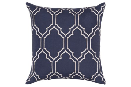Accent Pillow-Norinne Geo Navy/Light Grey 20X20 - Main