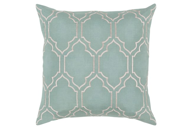 Accent Pillow-Norinne Geo Moss/Light Grey 18X18 - 360