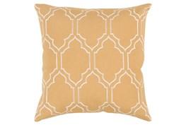 Accent Pillow-Norinne Geo Gold/Beige 18X18