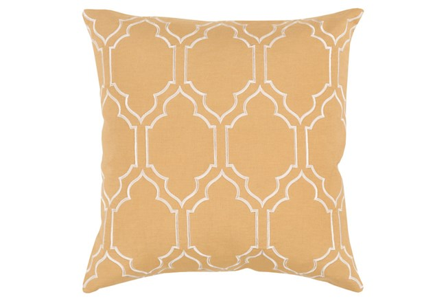 Accent Pillow-Norinne Geo Gold/Beige 20X20 - 360